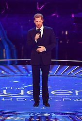 Prince Harry on stage at the Royal Albert Hall in London during a star-studded concert to celebrate the Queen's 92nd birthday.