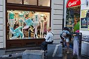 A womenswear shop window in the Slovenian capital, Ljubljana, on 27th June 2018, in Ljubljana, Slovenia.