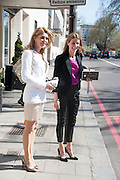 LEFT: KIMBERLEY JULIUS, Leaving The Seventh Annual Foreign Sisters Lunch in aid of Cancer Research UK. . The Dorchester 53 Park Lane. London. 1 May 2013.