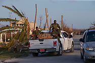 A truck load of supplies arrive at Marsh Harbour in Great Abaco Island, Bahamas on Wednesday, September 4, 2019.