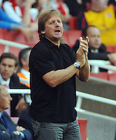 Bernd Schuster (Madrid Manager) . Arsenal v Real Madrid Emirates Cup 3/8/2008 Credit : Colorsport / Andrew Cowie