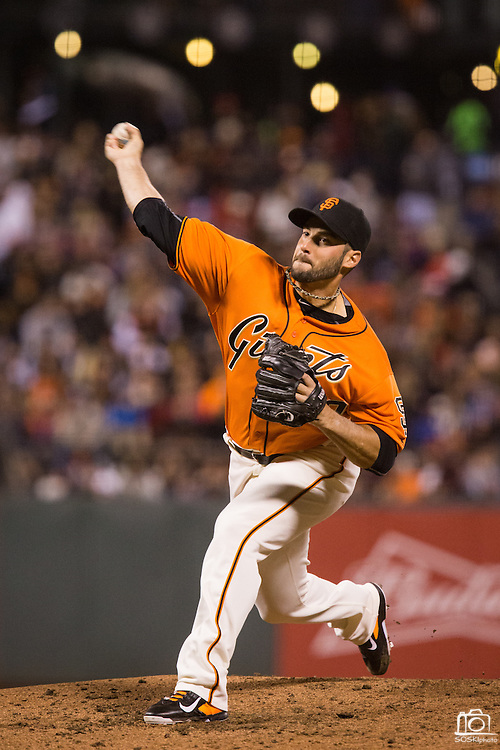 San Francisco Giants relief pitcher George Kontos (70) pitches against the Baltimore Orioles at AT&T Park in San Francisco, Calif., on August 12, 2016. (Stan Olszewski/Special to S.F. Examiner)