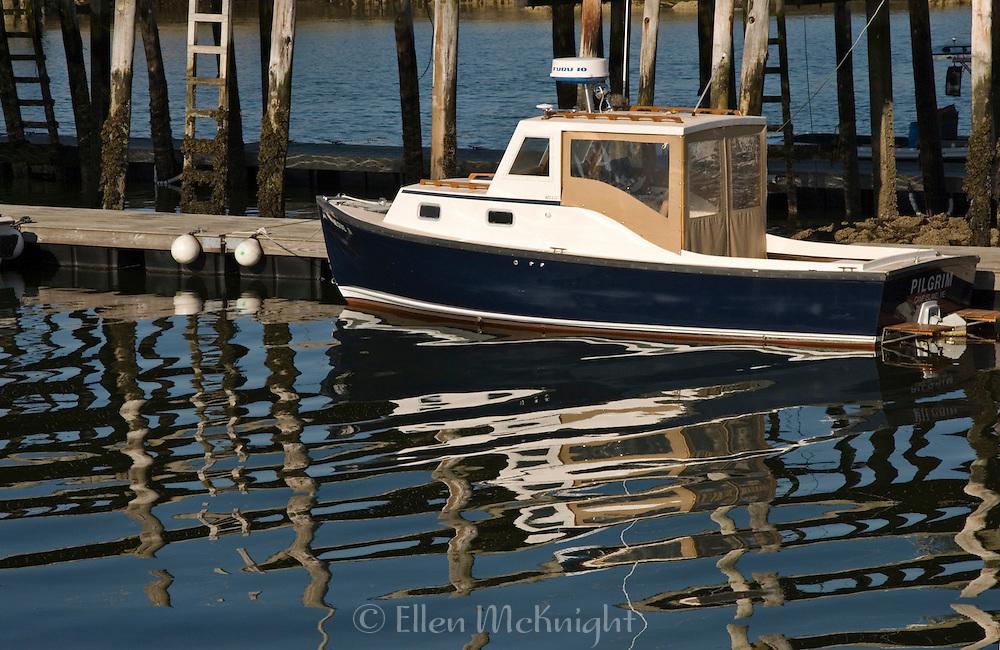 Boat in Stonington Harbor