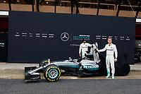 ROSBERG Nico (ger) Mercedes GP MGP W07 ambiance portrait HAMILTON Lewis (gbr) Mercedes GP MGP W07 ambiance portrait  during Mercedes W07 launch at  Barcelona, winter tests, Spain,  February 22, 2016 - Photo Florent Gooden / DPPI