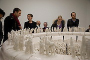 RACHEL KNEEBONE, ( second from left) The Descent, Rachel Kneebone. White Cube. Hoxton Sq. London. 26 February 2009