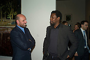PETER DOIG AND HURVIN ANDERSON, Private view and dinner for the opening of the Peter Doig exhibition. Tate Britain. Millbank. London. 4 February 2008.  *** Local Caption *** -DO NOT ARCHIVE-© Copyright Photograph by Dafydd Jones. 248 Clapham Rd. London SW9 0PZ. Tel 0207 820 0771. www.dafjones.com.