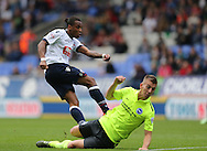Bolton Wanderers midfielder Neil Danns scores during the Sky Bet Championship match between Bolton Wanderers and Brighton and Hove Albion at the Macron Stadium, Bolton, England on 26 September 2015.
