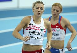 Karolina Tyminska of Poland at pentathlon run at the 1st day of  European Athletics Indoor Championships Torino 2009 (6th - 8th March), at Oval Lingotto Stadium,  Torino, Italy, on March 6, 2009. (Photo by Vid Ponikvar / Sportida)