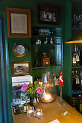 Sonderho Kro Hotel and Restaurant with quaint traditional style artifacts on Fano Island in South Jutland, Denmark