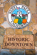 Historic Santa Paula sign, Santa Paula, California USA