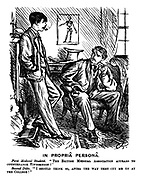 """In Propria Persona. First medical student. """"The British Medical Association appears to countenance vivisection!"""" Second ditto. """"I should think so, after the way they cut me up at the college!"""""""
