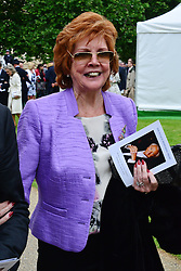 Michael Winner public memorial.  <br /> Cilla Black during the Memorial.<br /> Memorial takes place at the National Police Memorial. The film director and food critic helped establish, following his death on January 23 2013. <br /> Geraldine Winner, Sir Michael Parkinson, Sir Michael Caine, Sir Roger Moore, Cilla Black, Carol Vorderman, Sir Terence Conran, give eulogies, <br /> London, United Kingdom<br /> Sunday, 23rd June 2013<br /> Picture by Nils Jorgensen / i-Images