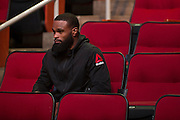 HOUSTON, TX - OCTOBER 2:  Tyron Woodley waits backstage before the UFC 192 weigh-in at the Toyota Center on October 2, 2015 in Houston, Texas. (Photo by Cooper Neill/Zuffa LLC/Zuffa LLC via Getty Images) *** Local Caption *** Tyron Woodley