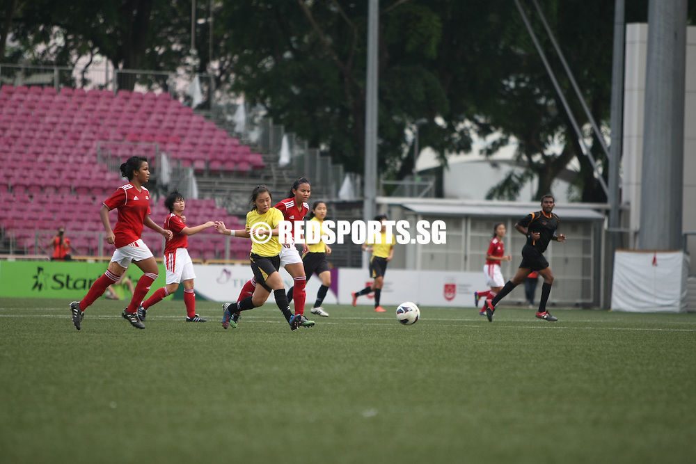 Jalan Besar Stadium, Thursday, May 23, 2013 — Victoria Junior College (VJC) beat Millennia Institute (MI) 2–0 to win their fifth National A Division Girls' Football Championship title in six years.<br /> <br /> Story: http://www.redsports.sg/2013/05/24/a-div-football-girls-victoria-jc-millennia-institute/