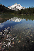 Reflections in Leigh Lake, a less touristy sister of Jenny Lake, in Grand Teton National Park, Wyoming, USA