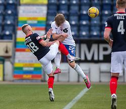 20MAR21 Falkirk's Callum Morrison  and Montrose Cammy Ballantyne. Falkirk 2 v 0 Montrose, Scottish Football League Division One game played 20/3/2021 at The Falkirk Stadium.