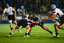 Nick Williams of Cardiff Blues is tackled by Mattia Bellini of Zebre Rugby Club - Mandatory by-line: Craig Thomas/JMP - 04/11/2017 - RUGBY - BT Sport Cardiff Arms Park - Cardiff, Wales - Cardiff Blues v Zebre Rugby Club - Guinness Pro 14
