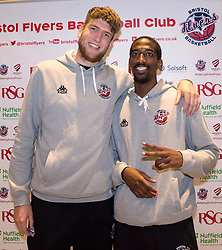 Michael Vigor and Hameed Ali of Bristol Flyers - Mandatory by-line: Robbie Stephenson/JMP - 12/09/2016 - BASKETBALL - Ashton Gate Stadium - Bristol, England - Bristol Flyers Sponsors Event