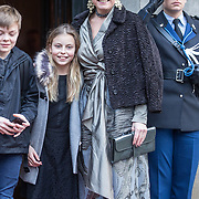 NLD/Amsterdam/20180203 - 80ste Verjaardag Pr. Beatrix, Prinses Laurentien met Gravin Leonore