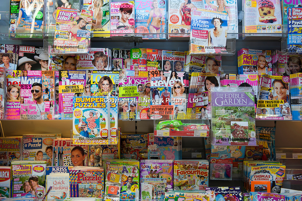 Magazines on display.<br /> Picture: Sean Spencer/Hull News & Pictures<br /> 01482 210267/07976 433960<br /> www.hullnews.co.uk   sean@hullnews.co.uk