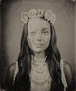 """Images from """"Vanitas Fair,"""" a collection of tintypes investigating mortality through modern recreations of vanities, memento mori and nature morte paintings."""