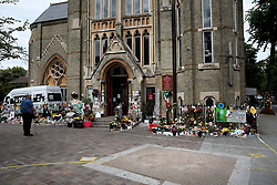 UK ENGLAND LONDON 14JUL17 - Messages for victims of the Grenfell Tower fire at the Notting Hill Methodist Church in north Kensington, west London, one month after the disaster that left over 80 people dead.<br /> <br /> jre/Photo by Jiri Rezac<br /> <br /> © Jiri Rezac 2017