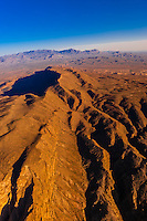 Aerial view, Chisos Mountains, Big Bend National Park, Texas USA.