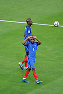Thomas LEMAR (FRA) after scored it goal, Paul POGBA (FRA) during the FIFA World Cup Russia 2018, Qualifying Group A football match between France and Netherlands on August 31, 2017 at Stade de France in Saint-Denis, France - Photo Stephane Allaman / ProSportsImages / DPPI