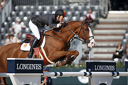 Cordon Pilar, (ESP), Gribouille du Lys <br /> First Round<br /> Furusiyya FEI Nations Cup Jumping Final - Barcelona 2015<br /> © Dirk Caremans<br /> 24/09/15
