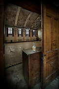 Chianti bottle in abandoned asylum
