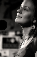 Morgan Caulfield, vocals, during her performance with Morning River Band at The Bus Stop Music Cafe in Pitman, NJ.