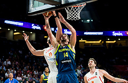 Marc Gasol of Spain vs Gasper Vidmar of Slovenia during basketball match between National Teams of Slovenia and Spain at Day 15 in Semifinal of the FIBA EuroBasket 2017 at Sinan Erdem Dome in Istanbul, Turkey on September 14, 2017. Photo by Vid Ponikvar / Sportida