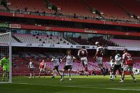 Football - 2020 /2021 Premier League - Arsenal v Fulham - Emirate Stadium<br /> <br /> Arsenal's Dani Ceballos' header disallowed for offside.<br /> <br /> COLORSPORT