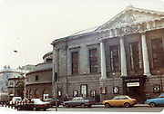 Old amateur photos of Dublin streets churches, cars, lanes, roads, shops schools, hospitals, gate theatre Custom House, Gate Theather, Protestant Church, Temple St Hospital, St Georges Church, Abbey St, GPO July 1986 July 1986