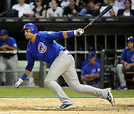 CHICAGO - JUNE 21:  Aramis Ramirez #16 of the Chicago Cubs hits a double in the fourth inning against the Chicago White Sox on June 21, 2011 at U.S. Cellular Field in Chicago, Illinois.  (Photo by Ron Vesely)  Subject:  Aramis Ramirez
