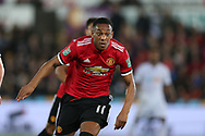 Anthony Martial of Manchester United in action. EFL Carabao Cup 4th round match, Swansea city v Manchester Utd at the Liberty Stadium in Swansea, South Wales on Tuesday 24th October 2017.<br /> pic by  Andrew Orchard, Andrew Orchard sports photography.
