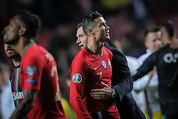 March 22, 2019 - Na - Lisbon, 03/22/2019 - The Portuguese Football Team received this afternoon their Ukrainian counterpart at the Estádio da Luz in Lisbon, in the Group B game, in the qualifying round for the 2020 European Championship. Cristiano Ronaldo; Andriy Shevchenko  (Credit Image: © Atlantico Press via ZUMA Wire)