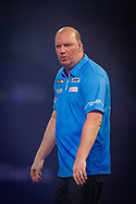 Vincent van de Voort (Netherlands) reacts during the William Hill World Darts Championship at Alexandra Palace, London, United Kingdom on 28 December 2020.