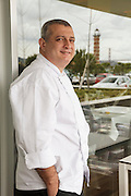 "Chef José Cordeiro, executive-chef in ""Feitoria"" restaurant, part of Altis Belém Hotel, which is one of portuguese Michelin-starred restaurants."