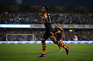 GOAL / CELE - Ayoze Perez of Newcastle United celebrates after he scores his sides 2nd goal to make it 0-2. EFL Skybet football league championship match, Queens Park Rangers v Newcastle Utd at Loftus Road Stadium in London on Tuesday 13th September 2016.<br /> pic by John Patrick Fletcher, Andrew Orchard sports photography.