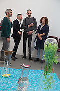 JAKE MILLER ON THE APPROACH STAND, The VIP preview of Frieze. Regent's Park. London. 16 October 2013