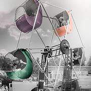 Feris Wheel at carnival, old ferris wheel, photography, fair, kids rides