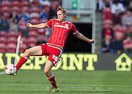 Middlesbrough FC defender Tomas Kalas controls the ball during the Sky Bet Championship match between Middlesbrough and Leeds United at the Riverside Stadium, Middlesbrough, England on 27 September 2015. Photo by George Ledger.