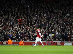 Arsenal's Santi Cazorla is sacrificed as Arsenal are reduced to 10 Men - Photo mandatory by-line: Joe Meredith/JMP - Tel: Mobile: 07966 386802 19/02/2014 - SPORT - FOOTBALL - London - Emirates Stadium - Arsenal v Bayern Munich - Champions League - Last 16 - First Leg