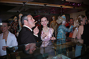 Sam Hodgkin and Bettina von hase. Selfridges Las Vegas dinner hosted by  hon Galen , Hillary Weston and Allanah Weston. Selfridges Oxford St. 20 April 2005. ONE TIME USE ONLY - DO NOT ARCHIVE  © Copyright Photograph by Dafydd Jones 66 Stockwell Park Rd. London SW9 0DA Tel 020 7733 0108 www.dafjones.com