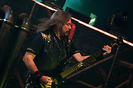 Judas Priest bassist Ian Hill performs as the band kicked off their 50th anniversary tour Sept. 8, 2021, at Santander Arena in Reading, Pennsylvania.