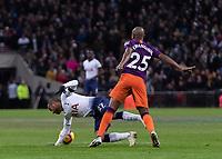 Football - 2018 / 2019 Premier League - Tottenham Hotspur vs. Manchester City<br /> <br /> Lucas Moura (Tottenham FC)  dives infront of (Manchester City) looking for the free kick at Wembley Stadium.<br /> <br /> COLORSPORT/DANIEL BEARHAM
