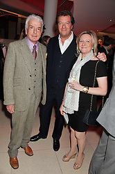 Left to right, NICKY HASLAM, MARK STEINBERG and CLAIRE GERMAN MD of the Design Centre at the London Design Week 2013 Party, held at the Design Centre, Chelsea Harbour, London SW10 on 18th March 2013.