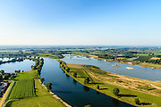 Nederland, Noord-Brabant, Gelderland, Lith, 23-08-2016; Over de Maas, uiterwaardvergraving ter hoogte van Moordhuizen (ten noorden van Lith). Doel van het project is winning van zand in combinatie met ontwikkeling nieuwe riviergebonden natuur.<br /> Over Meuse,  floodplain excavation. The aim of the project is extraction of sand in combination with developing new river nature.<br /> aerial photo (additional fee required); <br /> luchtfoto (toeslag op standard tarieven);<br /> copyright foto/photo Siebe Swart
