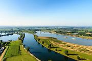 Nederland, Noord-Brabant, Gelderland, Lith, 23-08-2016; Over de Maas, uiterwaardvergraving ter hoogte van Moordhuizen (ten noorden van Lith). Doel van het project is winning van zand in combinatie met ontwikkeling nieuwe riviergebonden natuur.<br /> Over Meuse,  floodplain excavation. The aim of the project is extraction of sand in combination with developing new river nature.<br /> aerial photo (additional fee required); <br /> luchtfoto (toeslag op standard tarieven);<br /> copyright foto/photo Siebe Swart